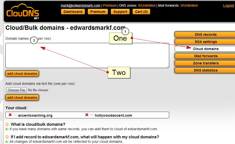 cloud domains